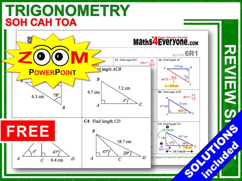GCSE Revision (Trigonometry: SOH CAH TOA)
