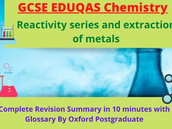 GCSE EDUQAS Chemistry Reactivity series and extraction of metals Complete Revision Summary