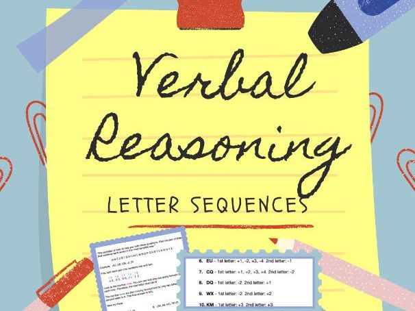 11+ Verbal Reasoning - Letter Sequences