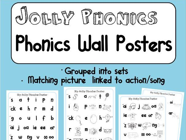 Simple Jolly Phonics Wall Display Poster | Sounds grouped into Sets