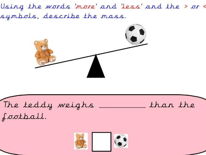 Year 2 Mastery Maths Balancing Scales
