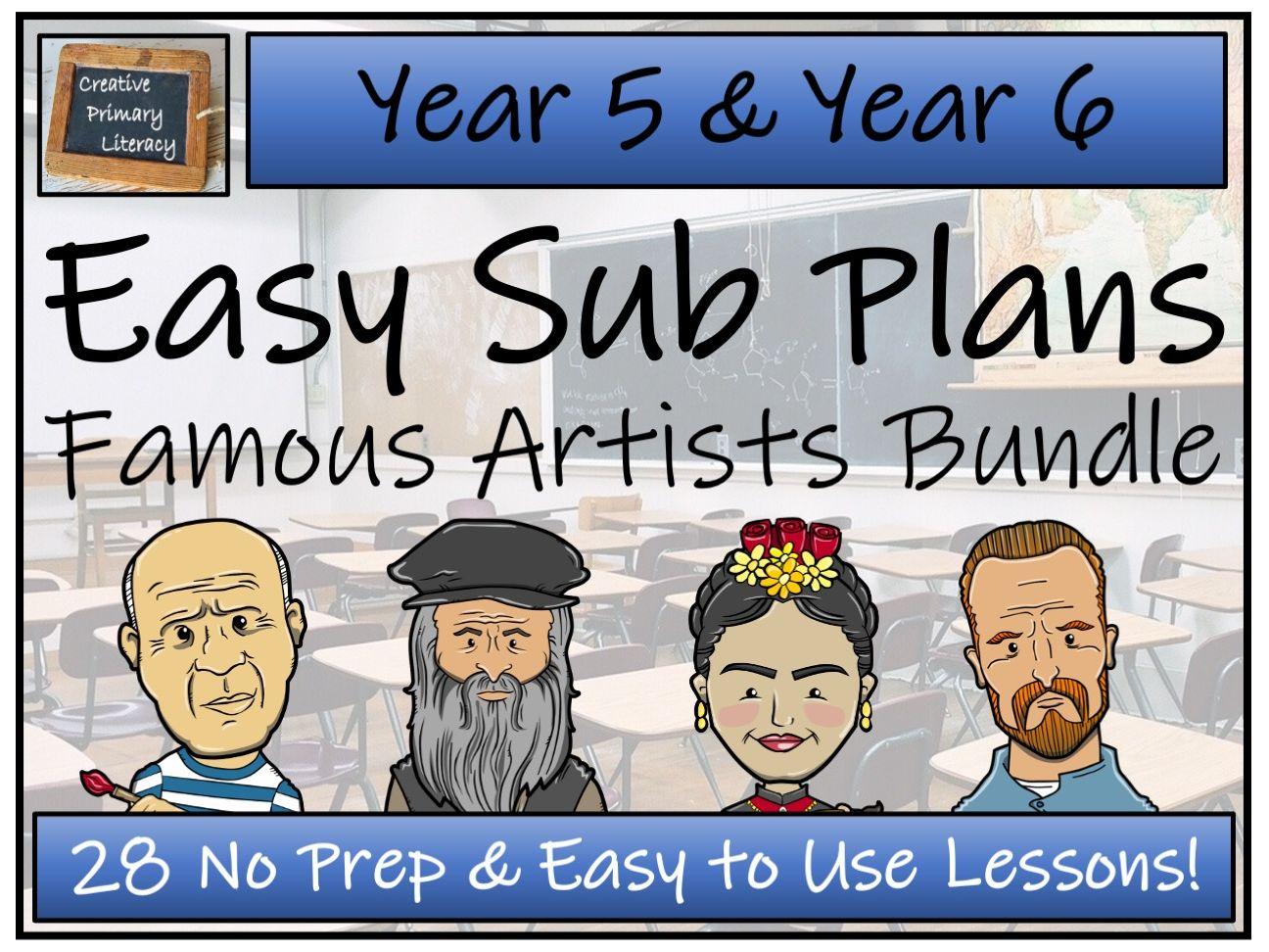 UKS2 Easy Substitution Plans | Famous Artists Bundle