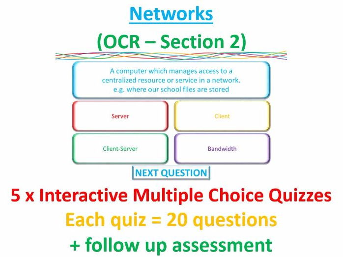 5 x Interactive Multiple Choice Quizzes - Networks