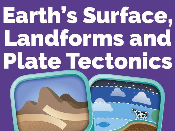 Earth's surface, landforms & plate tectonics unit