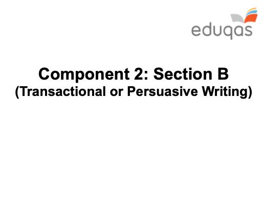 Non-Fiction Writing - GCSE Eduqas - KS4