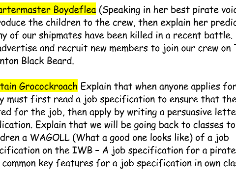 Pirates! Non-fiction Resources linked to writing job specifications: Pirates