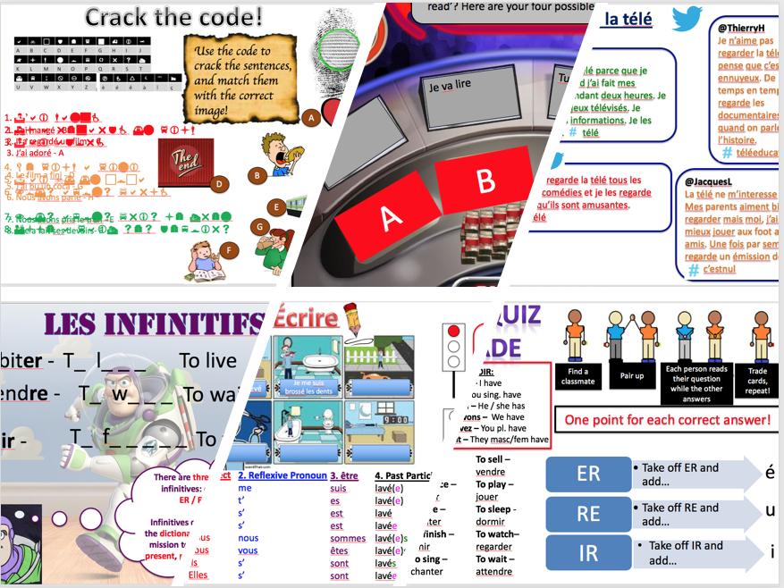 Expo 3 Module 1(TV, cinema, daily routine, reading, perfect tense, near future) - complete topic - differentiated lessons with worksheets and homework