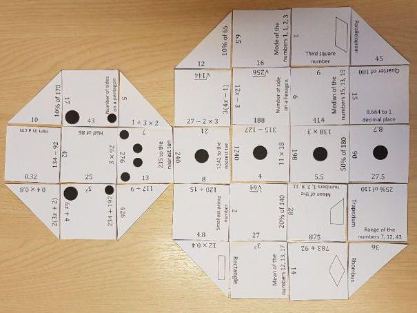 Christmas Snowman Maths Jigsaw