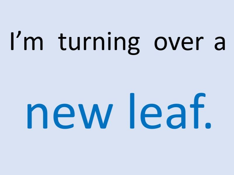 I'm Turning Over A New Leaf (song)