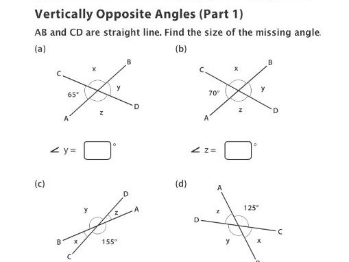 Vertically Opposite Angles (Part 1)