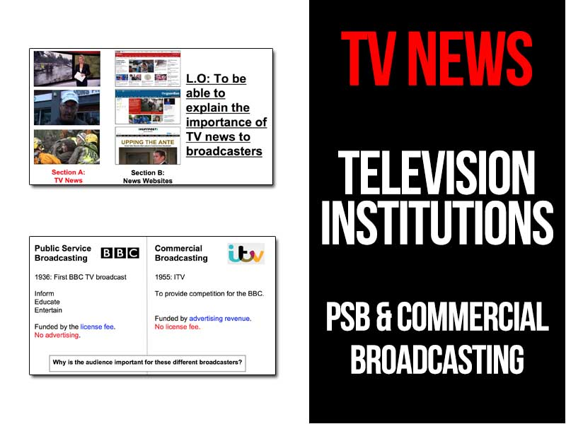 TV News - Television organisations - PSB and Commercial Broadcasting