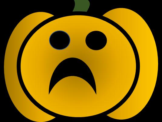 Pumpkin clip art - happy, sad, scared, smiley, scared. Emotional pumpkins