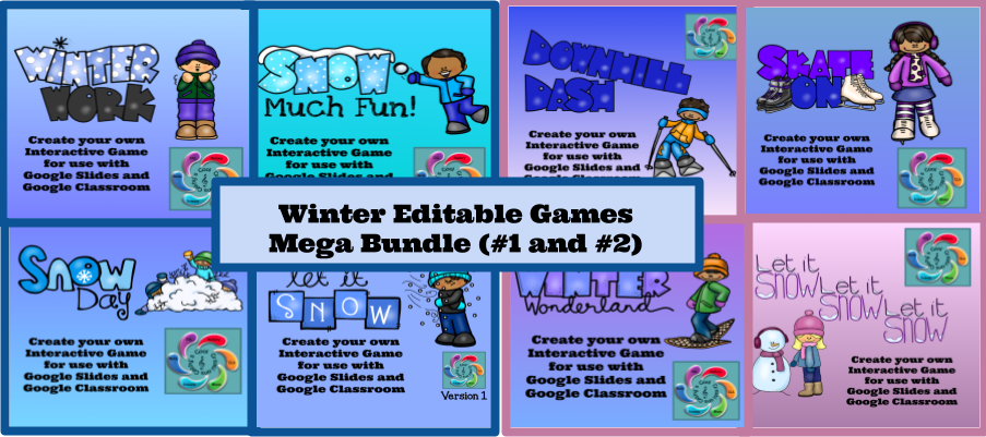 Winter Editable Interactive Game for Google Slides Create Your Own-Bundles #1 and 2