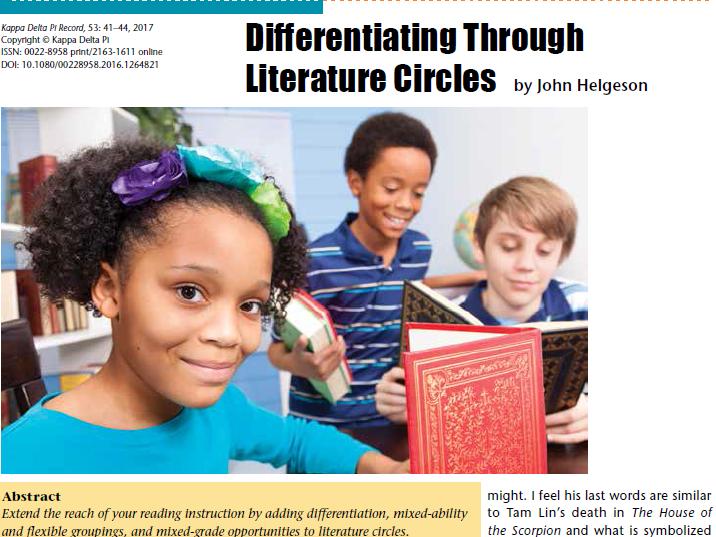 Differentiating Through Literature Circles