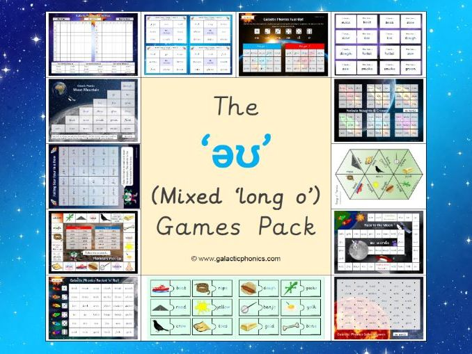The mixed 'əʊ' (long o) games pack