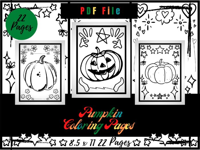 Pumpkin Colouring Pages For Kids, Halloween Printable Colouring Sheets PDF