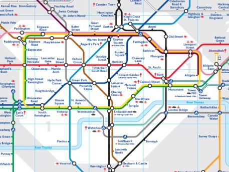 Tube map art/maths lesson