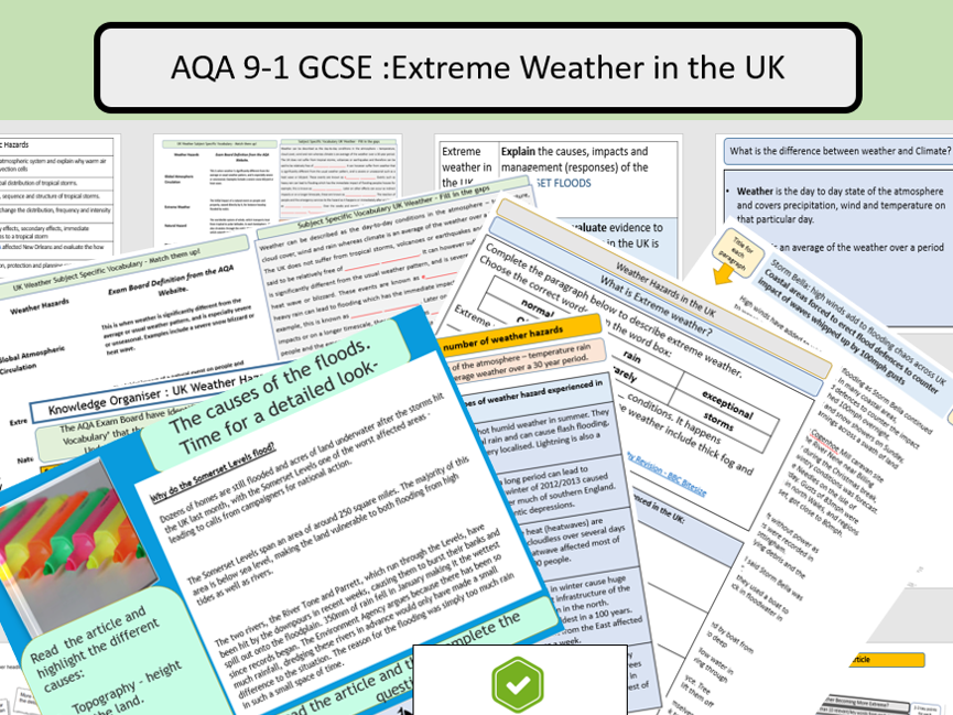 GCSE AQA Extreme Weather in the UK