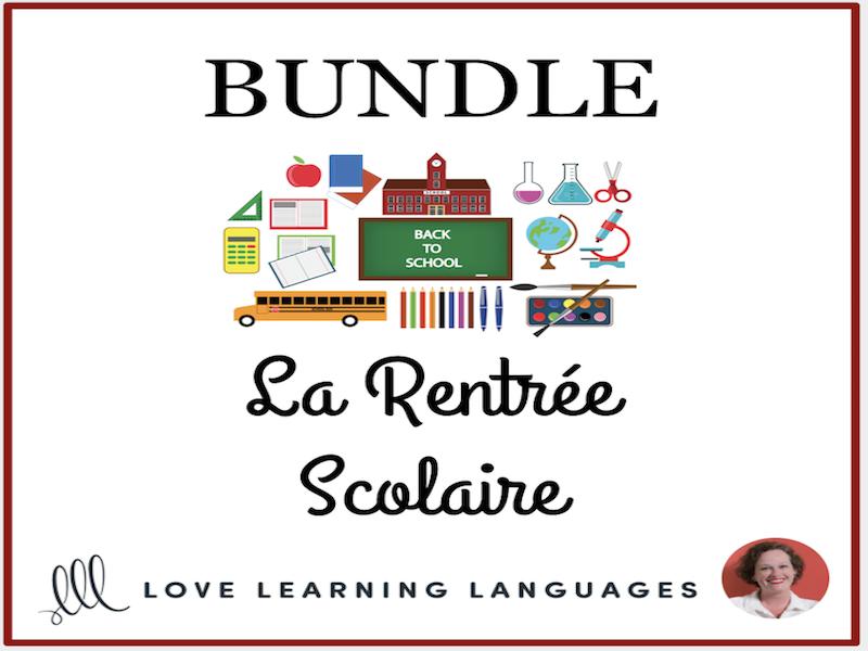 La Rentrée Scolaire - Bundled French Resources