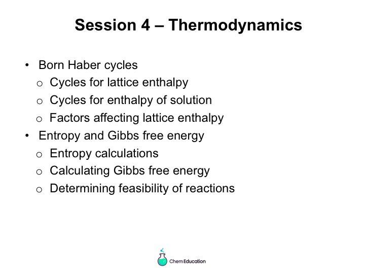 Revision powerpoint covering thermodynamics for AQA A Level chemistry
