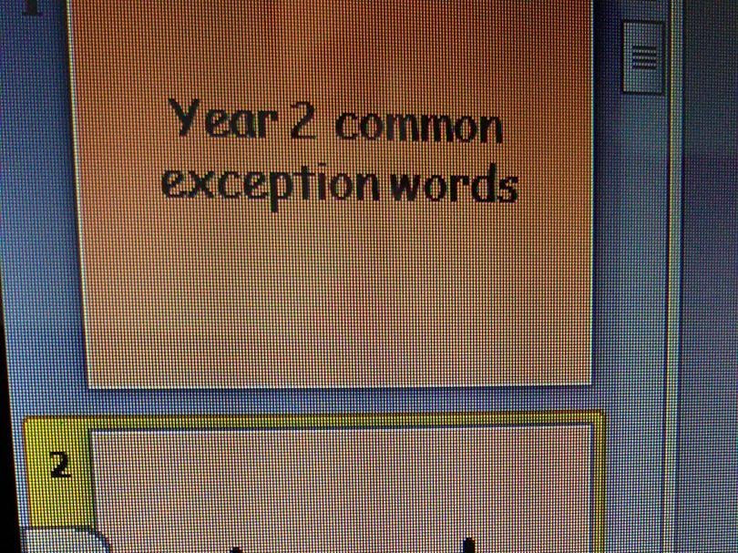 Year 1-6 common exception word powerpoints