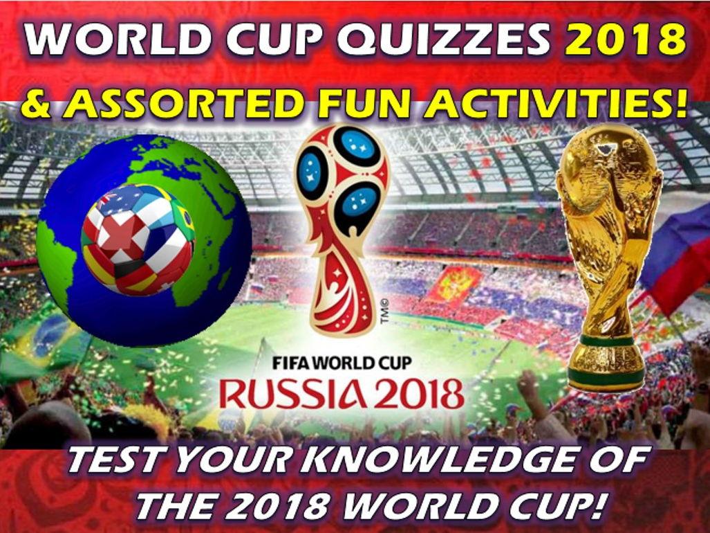 World Cup 2018 Quiz and assorted Activities Wordsearch Crossword Factsheet