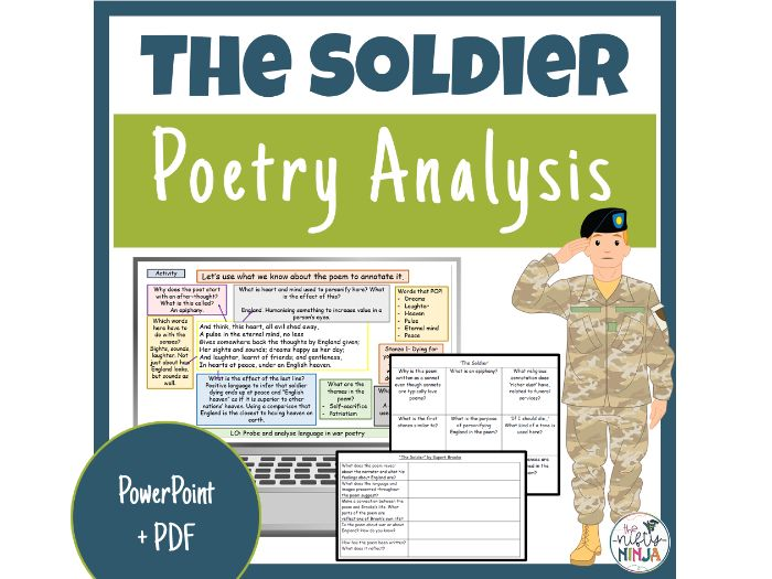The Soldier     Poetry Analysis