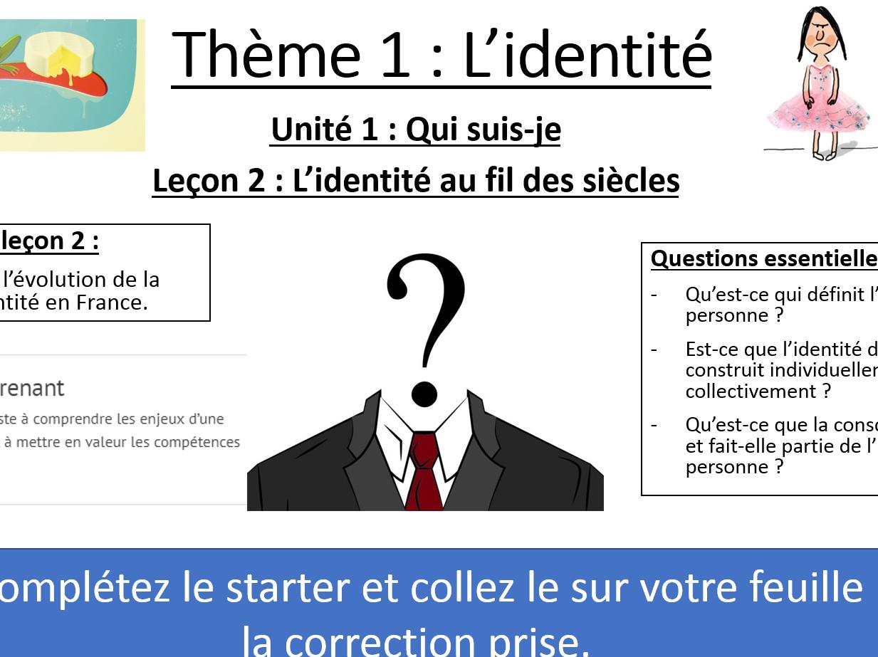 IB FRENCH B 2020 -  Identité - 3 Lessons Pack