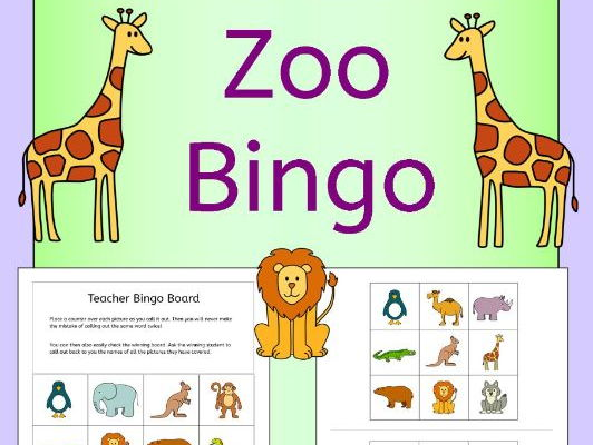 Zoo bingo for kids