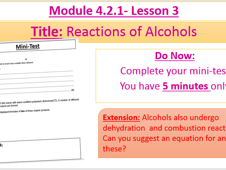 A Level Chemistry OCR Module 4.2.1