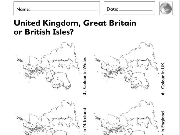KS1 (Year 1 and 2)  Geographical Worksheets (6 sheets)