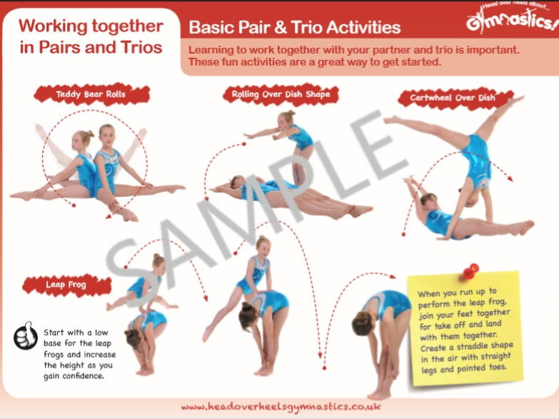 Gymnastics Pair and Trio Activities