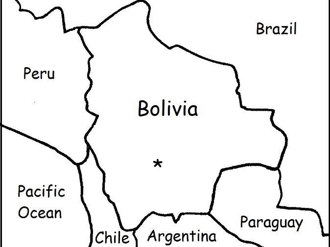 BOLIVIA - Printable worksheets include a map to color