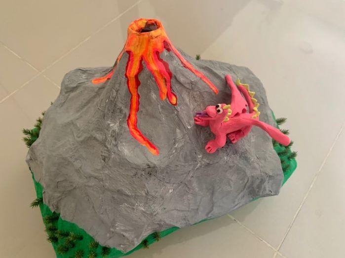 How to make a papier mache volcano or mountain