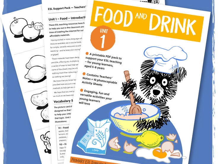 ESL/EFL Activity Pack: Food - ages 5-8 years