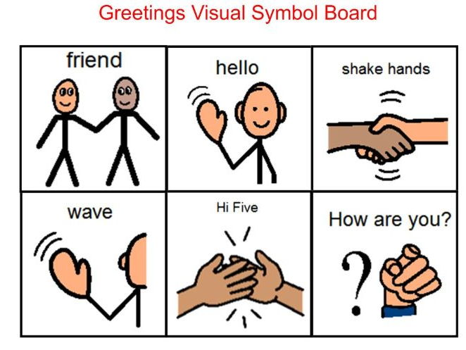 How to greet people - Life Skills including social stories for greetings