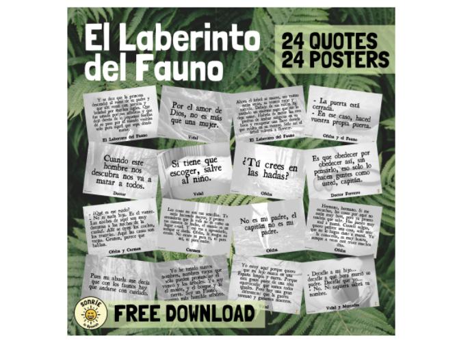 El laberinto del Fauno Pósteres Citas.  Quotes Pan's Labyrinth Posters