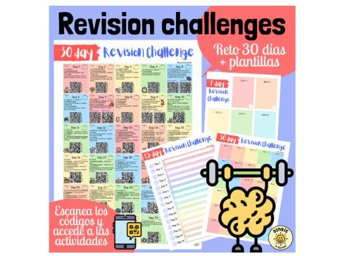 Revision challenges Spanish GCSE- vocab, grammar and exam style questions. Exam preparation