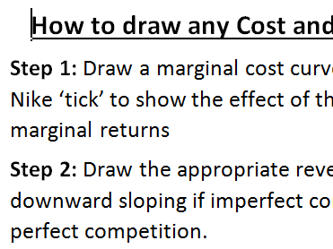 A Level Economics - How to draw any cost and revenue diagram