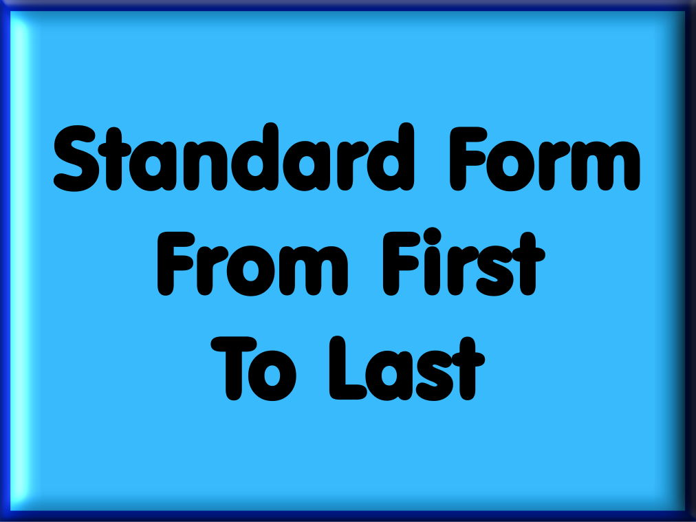 Standard Form From First To Last