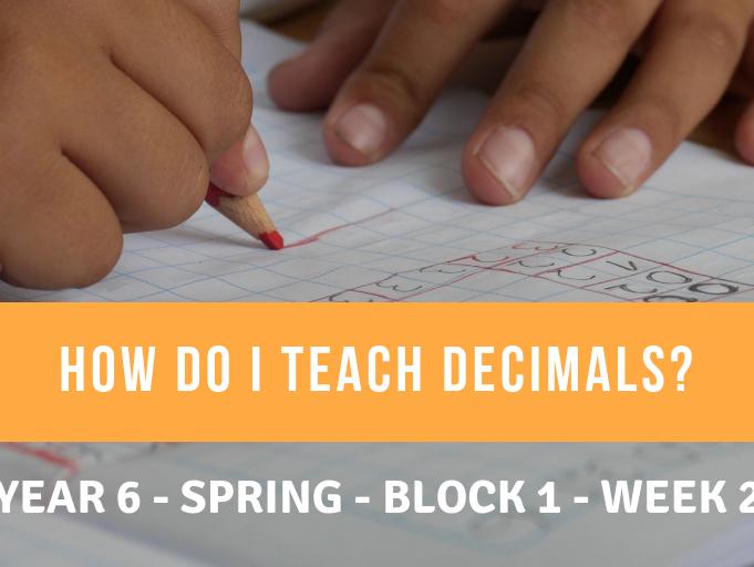 Decimals Year 6 Spring Block 1 Week 2