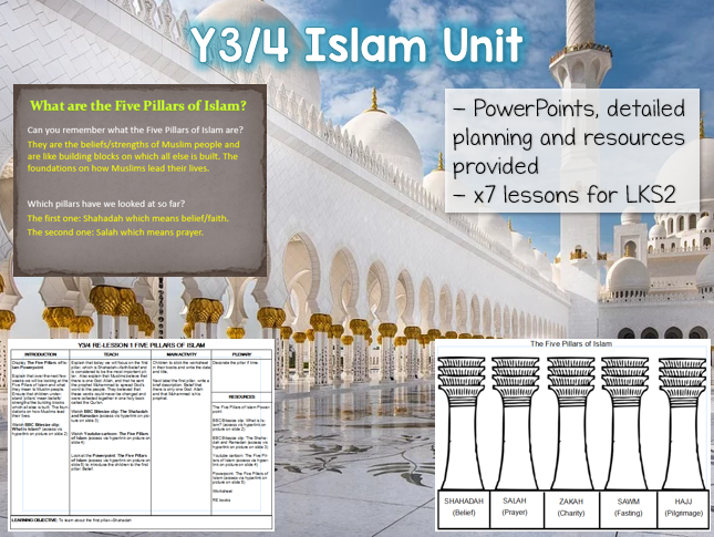 Y3 / Y4 The Five Pillars of Islam RE Unit - 7 lessons