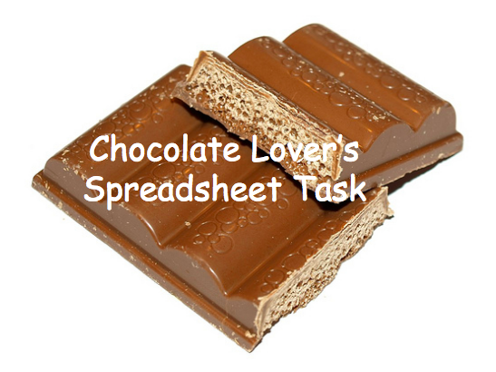 Spreadsheet Task with Chocolate Treat Theme