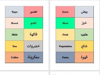 Shopping ESOL English Arabic Flashcards