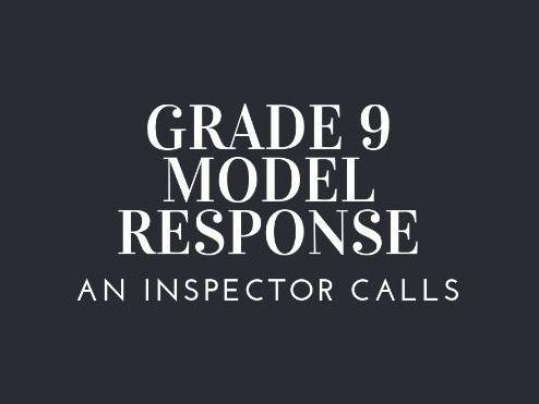 GRADE 9 MODEL ARTHUR BIRLING IMPORTANCE