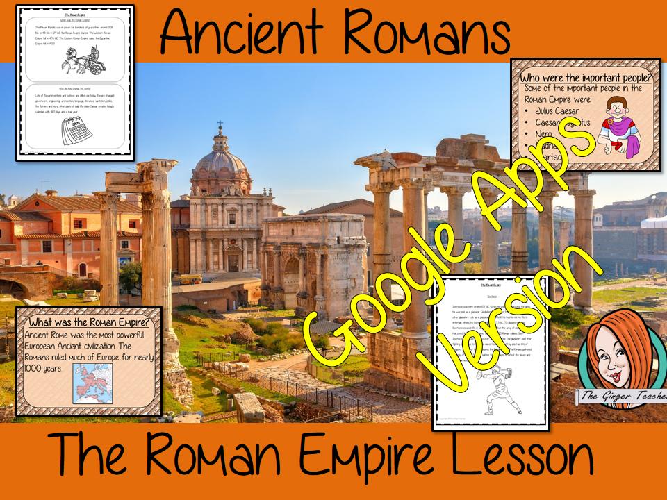 Distance Learning Ancient Roman Empire Google Slides Lesson