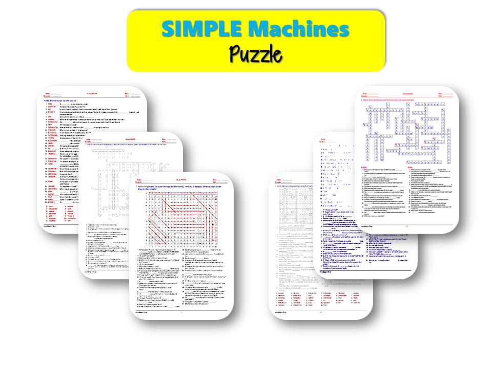 Simple MACHINES – PUZZLE