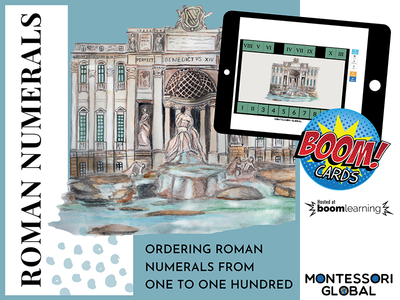 Roman Numerals | Ordering from 1 to 100 Boom Cards™