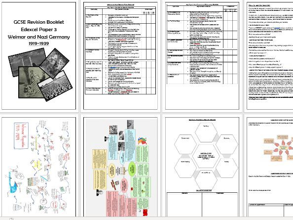 Weimar and Nazi Germany Revision Booklet