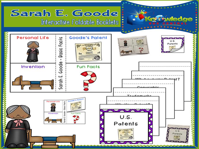 Sarah E. Goode Interactive Foldable Booklets